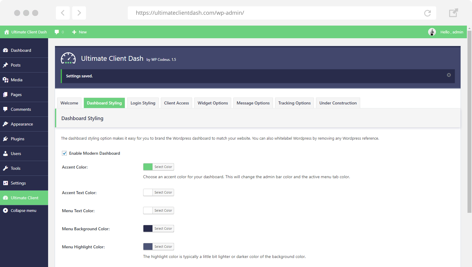 Create a client dashboard in WordPress